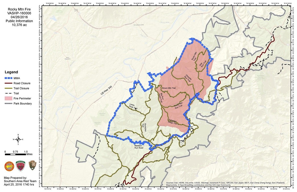 Shenandoah Wildfire Consumes More Than 10000 Acres NBC4 Washington - Us Forest Service Fire Maps For Virginia