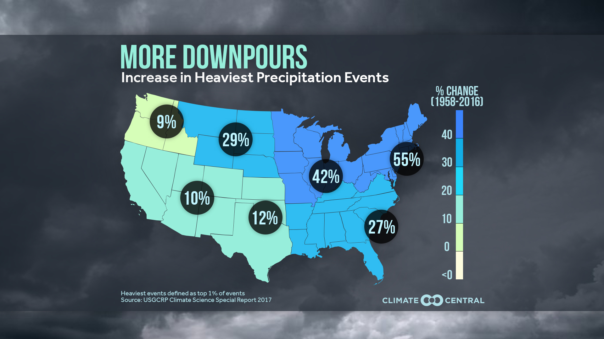 Downpours Map