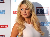 Paris Hilton Headlines the USO Fleet Week Kick Off in Union Square