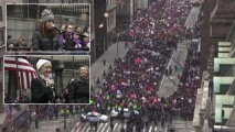 Protesters Flood Midtown for NYC Women's March