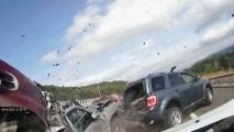 Dashcam Catches 10-Car Pileup, Motorists Rushing to Help