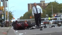 Car and Motorcycle Crash in Brooklyn; 1 Dead, 5 Hurt: NYPD