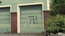 Signs, Garage in NJ Vandalized With Swastikas, Graffiti
