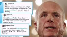 Support for Sen. John McCain After Cancer Diagnosis