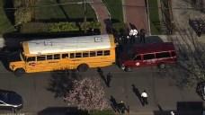 7-Year-Old Boy Pinned Between Van, School Bus Dies: Police