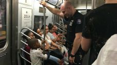 Boy, Cop Share Special Moment on Subway, Viral Photo Shows
