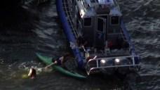 Ferry Strikes Kayakers on Hudson River; 5 Injured