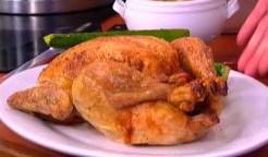Roast Chicken with Zucchini and Corn