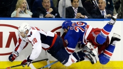 Rangers Fall to Caps 2-1 in OT, Slips in Series