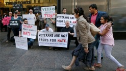 U.S. Military Vets Hold Protest at Trump Tower