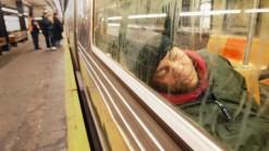 Subway Riders Dismiss NYPD Plan to Wake Snoozing Passengers