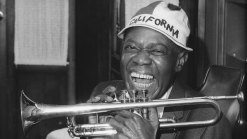Only Known Footage of Louis Armstrong in Studio