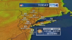 Noon forecast for Sunday, August 10