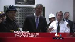 Mayor De Blasio Reacts to Crane Collapse