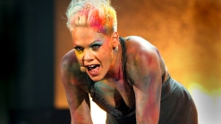"""Pink On Her """"Challenging"""" AMA Performance"""
