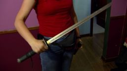 Woman Uses Sword To Fend Off Intruder