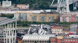 Highway Bridge Collapses in Italy, Killing at Least 20