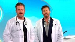 Eric Dane and Harry Put on Lab Coats