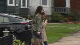 Hernandez Fiancee Seen Leaving Massachusetts Funeral Home