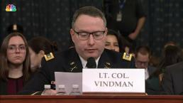 Lt. Col. Vindman Expresses Concerns About Trump's Call with Ukrainian President