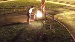Underwear-Clad Man Torches Neighbor's Trump Sign