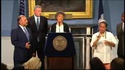 Health Commissioner, Mayor de Blasio Address Concerns About Legionnaires' Outbreak in the Bronx