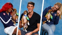 Olympic Athletes Play With Pups Ahead of the 2016 Rio Games