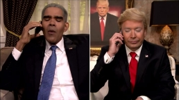 'Tonight': Fallon's 'Trump' Calls 'Obama' After Indiana Win