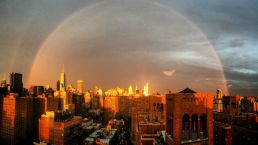 The Double Rainbow Over NYC After the Storm