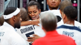 PHOTOS: First Lady Hugs Team USA