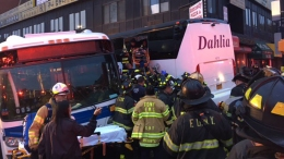 3 Killed When Tour Bus Runs Light, Barrels into MTA Bus