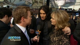 Russell Brand Brings His Mom To The Oscars
