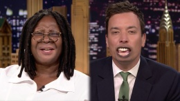 "Goldberg, Fallon Swap Lips on ""Tonight"""