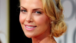 "Charlize Theron Shows Off Her ""Small Bosom"""
