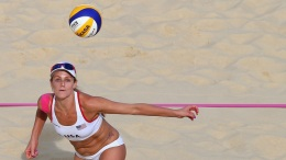 OC's Kessy, Ross Move on in Beach Volleyball