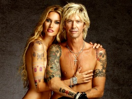 Bare-It-All PETA Ads: GNR Bassist Duff McKagan and Wife Choose Ink Not Mink