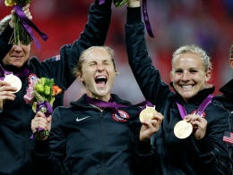 PHOTOS: U.S. Women's Soccer Gold Medal Ceremony
