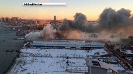 Firefighters Battle 7-Alarm Warehouse Blaze for Second Day