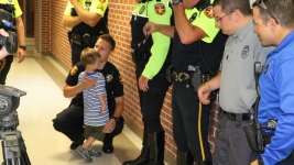 Fallen Officer's Kids Get Back-to-School Police Escort