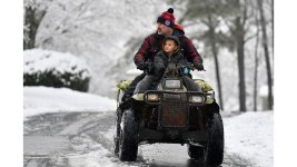 Snow Slows Usually Sunny Deep South, Moves to East Coast