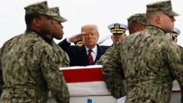 Trump Salutes Remains of 4 Americans Killed in Syria Attack