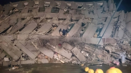 7 Dead, Many Trapped After Strong Quake Rocks Taiwan