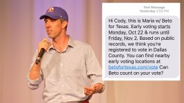 Lawsuit Alleges Texts From O'Rourke Campaign Are Illegal