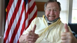 President George H.W. Bush Gives Thumbs Up in Tweet After Fall