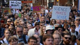 Scientists Hit the Streets to Demand Respect, Funding