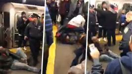 Straphangers Beat Up Man After Mom Attacked on Platform
