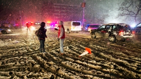Nor'easter Whips Storm-Damaged Tri-State