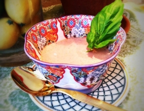 The Vegetable Diaries: Strawberry Basil Soup