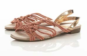 Holland Twist Coral Sandals