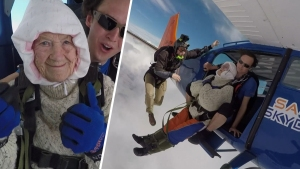 102-Year Old Woman Breaks Skydiving Record for Charity